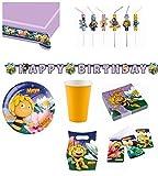 Biene Maja - XXL Partyset für 16 Kinder - 112 Teile