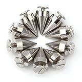 Ecloud Shop 10x Kupfer 9.5x15mm Farbe Silber Si Killernieten Schrauben Nieten Dekoration