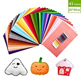 Felt Sheets SOLEDÌ 41 Colors 8 * 12 Inch (20 * 30cm) Felt and Cushions Felt Fabric Used for DIY Crafts Christmas Ornament Crafts for Children with Bobbin Thread Three Sizes