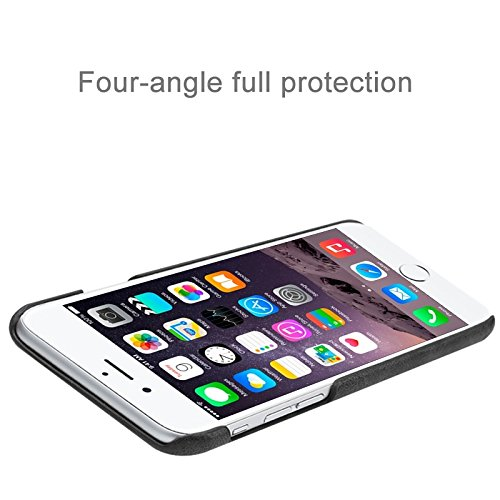 Phone case & Hülle Für IPhone 6 / 6s, Crazy Pferd Texture Leder Oberfläche PC Schutzhülle Rückseite ( Color : White ) Black
