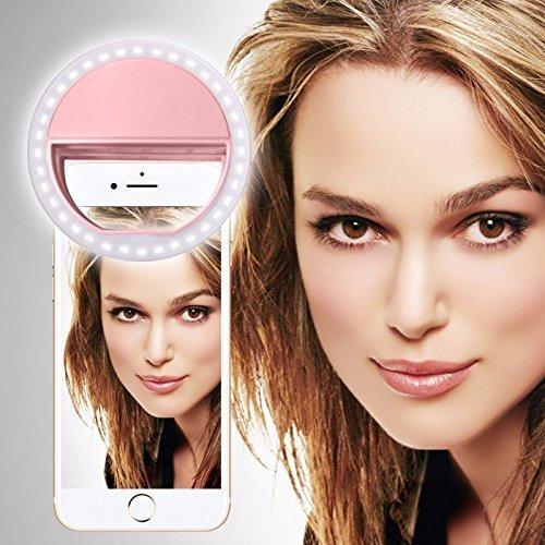 Doogee X30 (Baby-Rosa) Klipp auf Selfie Ring-Licht [Große Fotografie] mit 36 ??LED für intelligentes Telefon Kamera runder Form, durch I-Tronixs (Günstige Halloween-taschen)