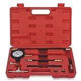 VETOMILE Kit de Herramientas de Bomba de Inyección de Combustible Probador de Presión para Coche (Medidor de Presión, Detector de Fugas, Regulador de Gasolina)