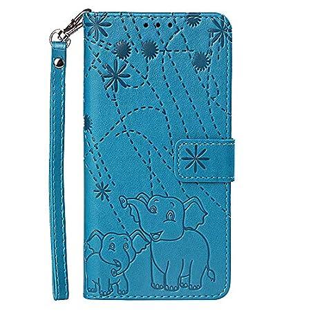 Hülle für Samsung Galaxy J7 (2018) Mit Schlüsselband,PU Klapphülle Brieftasche Kartenfächer Handyhülle Stylish Flip…