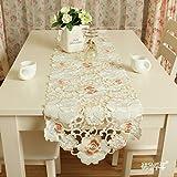 NMJNMK Camino de mesa bordado de tela/Camino de mesa de mesa de centro de mesa de tabla XI-A 40x150cm(16x59inch)