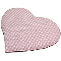 Kirschkernkissen Herz | ca. 30x25cm Bio Stoff rosa-weiß | Wärmekissen | Körnerkissen | Ein charmantes Geschenk preisvergleich bei billige-tabletten.eu