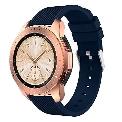 Artistic9 Watchband Strap für Samsung Galaxy Watch 42mm - 20mm Sport Silikon Armband mit Metallverschluss,Ersatzarmband Bandlänge 220mm