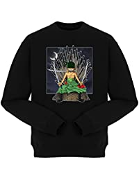 Pull Manga - Parodie Zorro de One Piece et Game of Thrones - Game of Swords (Super Deformed) - Pull Noir - Haute Qualité (869)