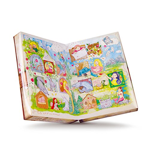 Preisvergleich Produktbild Märchenkalender,  ein Adventskalender der durch die Märchen Deiner Kindheit reist - gefüllt mit tollem Süßigkeiten-Mix aus Fruchtgummis,  Kaubonbons & Marshmallow