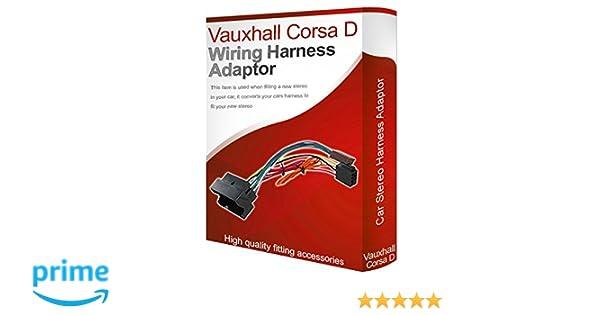 Vauxhall Corsa D CD radio stereo wiring harness adapter lead loom ISO on