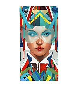 Fuson Amazing Pattern Girl Back Case Cover for SONY XPERIA Z5 - D3903