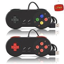 kiwitatá 2x SNES Retro USB Super Nintendo Controller Gamepad für Windows PC / MAC
