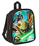 Star Wars-The Clone Wars Darth Vader Jedi Yoda Ragazzi Zaino - nero -