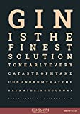 Ginsanity Poster Kunstdruck Artprint Gemälde Retro-Schild Wandschild dekorativer Kunst Vintage für Bar Kaffee Pub : The Gin Collective: The Gin Eye Test [[Size A3]]