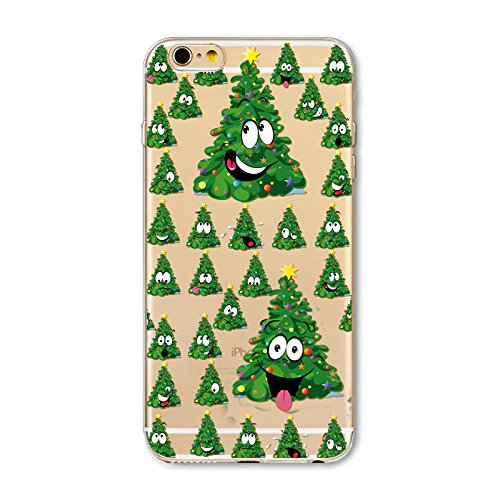 iPhone 7 Plus / iPhone 8 Plus Hülle, FindaGift Weihnachten Serie Ultra dünn Stoßfest Weiches TPU Telefon zurück Kasten Deckung Schutz Shockproof Case per iPhone 7 Plus / iPhone 8 Plus (Dog) Green Christmas Tree