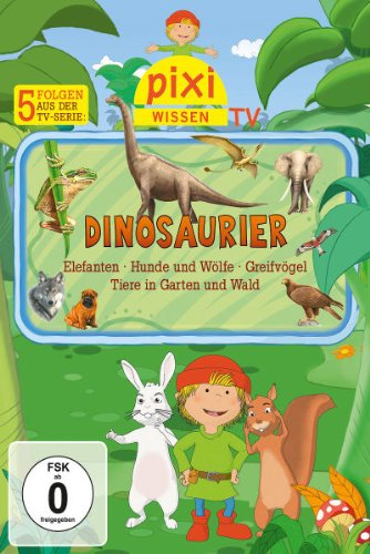 Dinosaurier/Tiere im Wald und Garten/Elefanten/Hunde und Wölfe/Raubvögel