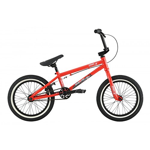 "Haro Downtown 16"" BMX bike 2017 16.4"" top tube gloss FST Red"