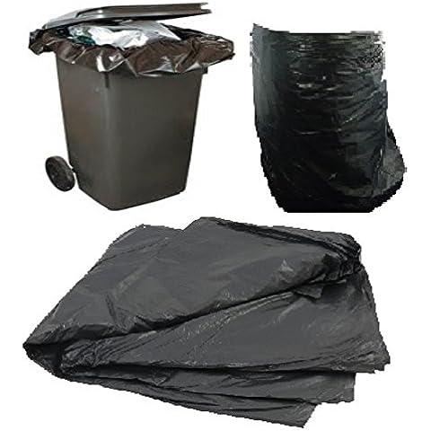 20grande color negro plástico Polietileno basura bolsas sacos tamaño 30x 46x 54