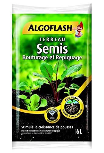 Algoflash Terreau Semis Bouturage et Repiquage avec Guano 6L (Lot de 2 Soit 12L)