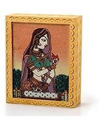 Creative Studio Ethnic Gemstone Painted Wooden Ethnic Jewelry Box