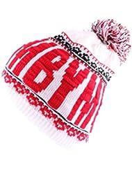 YMCMB - Bonnet YMCMB Blanc et Rouge avec pompon Homme / Femme