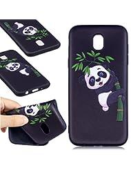 Coque Samsung Galaxy J5 2017(version européenne),Coffeetreehouse Motif soft coloré de motif estampé Noir mince TPU Protecteur Case Pour Samsung Galaxy J5 2017(version européenne)-Panda Bamboo