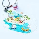 WARRAH Kids Non Slip Cartoon Printed PVC Bath Mat Safety Bath Mat Swimming Elephant