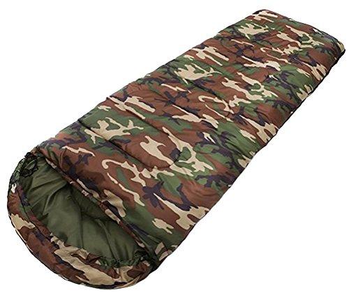 Honeystore Camping & Outdoor 190T Pongé Schlafsack-Deckenschlafsack (190+30)*75 CM Camo Design A
