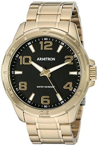 armitron-mens-20-5133bkgp-gold-tone-bracelet-watch