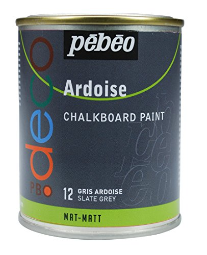 Pebeo 93512 Tafelfarbe 250 ml Metalldose, schiefergrau