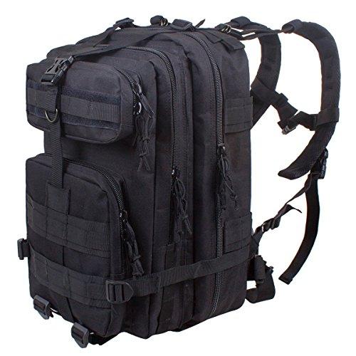 Gearmax® Sport esterno tattico militare dello zaino Molle Zaini campeggio Escursionismo Bag Borsa a tracolla Uomo Donna Outdoor Sport Camping Escursionismo sacchetto(Nero)