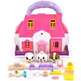 Canimals House Figure playset- two stories house
