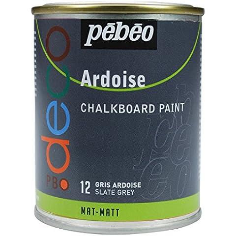 Pébéo - Pintura de pizarra (250 ml), color gris oscuro