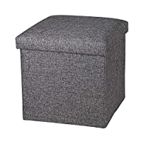 This Foldable Storage Cube/Ottoman With a contemporary and stylish design featuring, Constructed of solid MDF throughout and filled with high rebound sofa sponge,providing soft and comfortable feelings, It can be used as sandries organizers, stools, ...