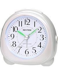 Rhythm(Japan) Beep Alarm,Snooze & EL Back Light,Beep Sound With EL Flash, Silky Move Value Added Beep Alarm Clock 8.7x8.7x5.3cm