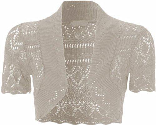 Nouveaux Femmes Grande Taille cultures Knnited Cardigans Femmes Vêtements 36-48 white
