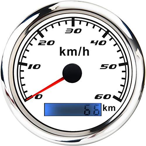 KESOTO Marine Auto Digital Digitale GPS Tachoanzeige Auto Boot Marine GPS Tachoanzeige Kraftstoffförderung Einspritzanlagen - Chrom