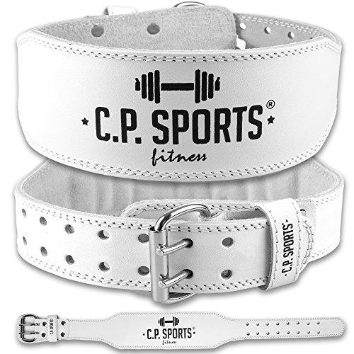 C.P. Sports Damen Trainingsgürtel Lady Leder, Weiß, XS, 38706