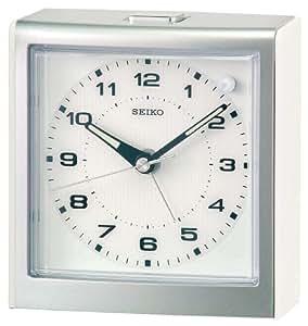 Seiko Clocks - QHE040W - Réveil - Quartz - Analogique - Bracelet