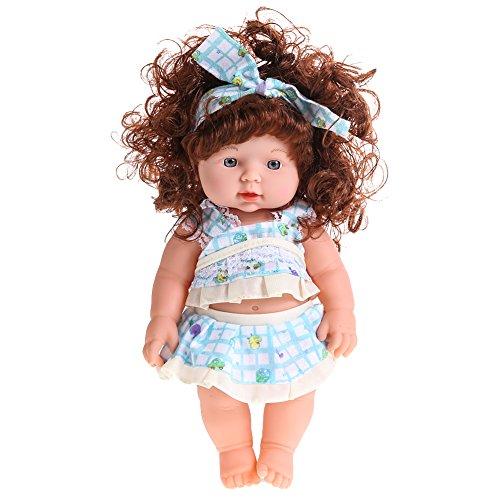 y Doll Soft Vinyl Silikon lebensechte neugeborenes Baby Puppe sprechendes Spielzeug (02) ()