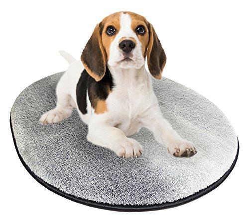 Chien Chien Ovale Hundematratze Ramba Zamba, Ruheplatz für Hunde und Katzen, Haustier Liegematte Grau, Tierbett Größe M 80 x 60 cm
