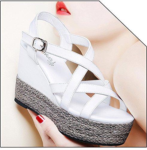 ZPPZZP La sig.ra sandali pendenza spesso con l'incisione 36EU