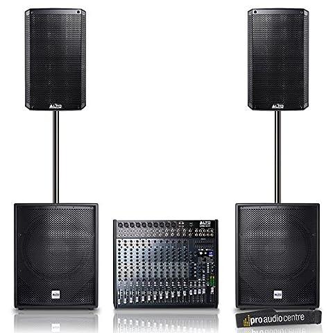 Alto TS212 Loudspeakers & TS215s Subwoofer with LIVE 1604 Mixer Band/DJ Bundle
