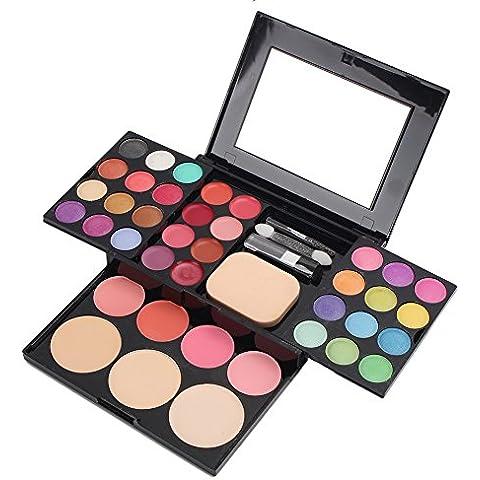 Professional Makeup Multi Color Eyeshadow Blush Powder Palette Lip Gloss