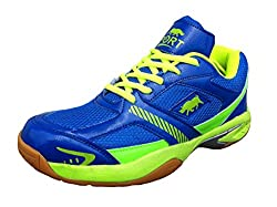 Port Mens BULLFORCE 113 Blue Badminton Court Shoes(9 Ind/Uk)