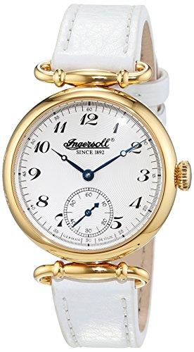 Ingersoll IN1316GSL - Orologio da polso Da Donna, Pelle, colore: Bianco