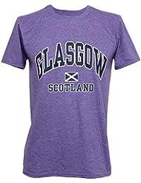 Mens Glasgow Scotland Print Short Sleeve Casual T-Shirt/Top