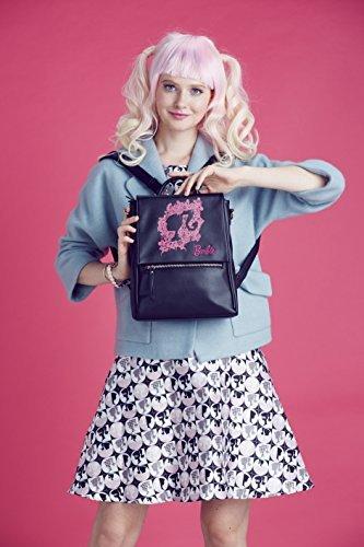 Barbie Zaino Multifonzionale da Ragazza Bambina Buon Regalo per Scuola in PU Colore Rosa Nero#BBBP094 Nero