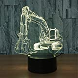 Best Gifts & Decor Glass Desks - YKMY Novelty Excavator 3D LED Illusion Night Lamp Review