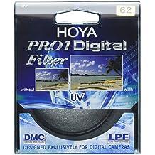 Hoya Pro1 Digital - Filtro de protección UV para objetivo de 62 mm, montura negra
