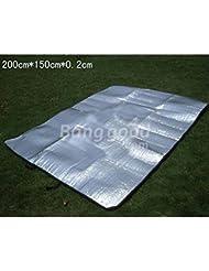 Bazaar Y dos lados del papel de aluminio cojín a prueba de humedad para 2 personas